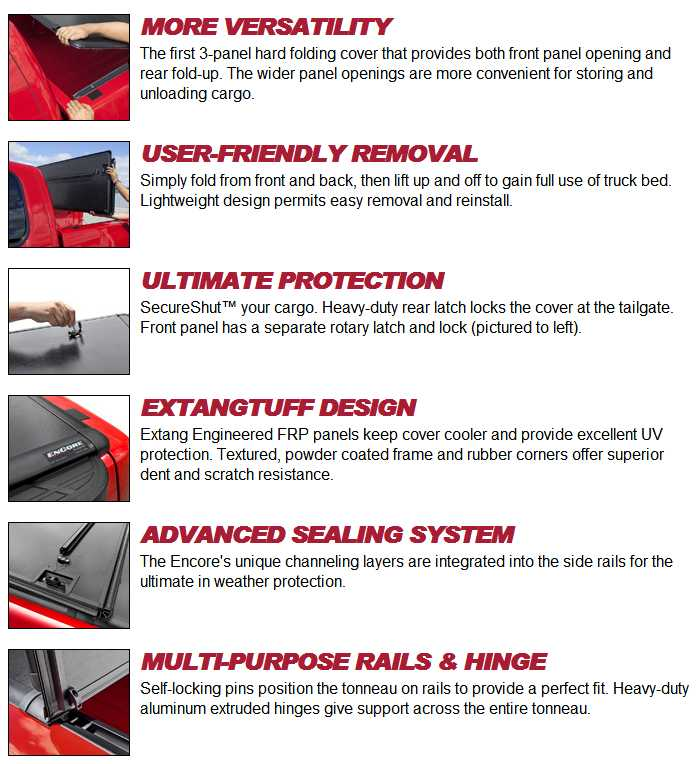 Extang Encore Tonneau Cover Information Features